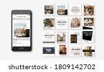 social media pack posts for... | Shutterstock .eps vector #1809142702