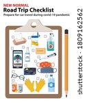 road trip checklist. how to...   Shutterstock .eps vector #1809162562