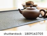 Clay Kettle Stands On A Tea...