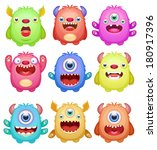 set of cute monsters | Shutterstock .eps vector #180917396