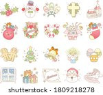 collection of christmas icon...   Shutterstock .eps vector #1809218278