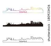 istanbul skyline linear style... | Shutterstock .eps vector #180923426