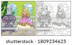 cute cartoon princess in palace ...   Shutterstock .eps vector #1809234625