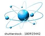 molecule abstract illustration  ... | Shutterstock .eps vector #180925442