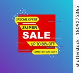 super sale and up to 80  off...   Shutterstock .eps vector #1809275365