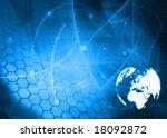 europe map technology style... | Shutterstock . vector #18092872