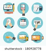 web design objects  business ... | Shutterstock .eps vector #180928778
