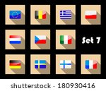 flat flags icons of european... | Shutterstock .eps vector #180930416