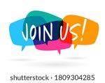 join us     colorful speech... | Shutterstock .eps vector #1809304285