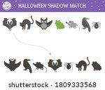 halloween shadow matching... | Shutterstock .eps vector #1809333568
