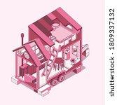 small tiny house.  modern... | Shutterstock .eps vector #1809337132