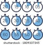 manual stopwatch chronograph ... | Shutterstock .eps vector #1809337345
