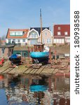 dutch shipyard of urk with... | Shutterstock . vector #180938588