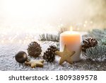 White Christmas Candle On...