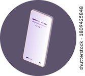 3d isometric smartphone in...