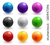 collection of colorful glossy... | Shutterstock . vector #180947396