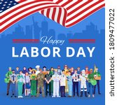 happy labor day. various... | Shutterstock .eps vector #1809477022