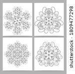 set of colouring pages for... | Shutterstock .eps vector #1809477298