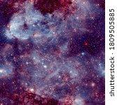cosmic fabric seamless pattern. ... | Shutterstock . vector #1809505885