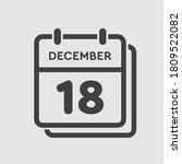 vector icon calendar day   18... | Shutterstock .eps vector #1809522082