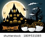 halloween trick or treat with... | Shutterstock .eps vector #1809531085