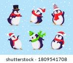 happy penguin characters in... | Shutterstock .eps vector #1809541708