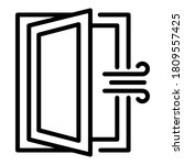 room ventilation icon. outline...   Shutterstock .eps vector #1809557425