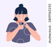 female entrepreneur or...   Shutterstock .eps vector #1809565192