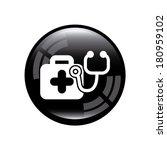 medical icon over gray... | Shutterstock .eps vector #180959102