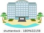 illustration of a simple resort ... | Shutterstock .eps vector #1809632158