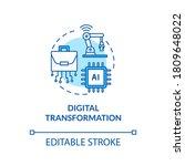 digital transformation... | Shutterstock .eps vector #1809648022