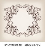 vector vintage border  frame... | Shutterstock .eps vector #180965792