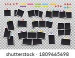 set of photo frames on sticky... | Shutterstock .eps vector #1809665698