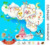 pirate treasure map and sky...   Shutterstock .eps vector #180966722
