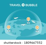 travel bubble concept vector... | Shutterstock .eps vector #1809667552