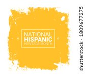national hispanic heritage...   Shutterstock .eps vector #1809677275