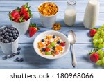 Ingredients for a healthy and tasty breakfast - stock photo