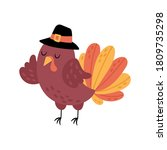 thanksgiving holiday cute... | Shutterstock .eps vector #1809735298