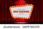 now showing announcement board... | Shutterstock .eps vector #1809760195