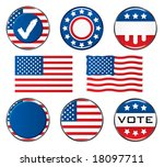 vote icon set. easy to edit... | Shutterstock .eps vector #18097711