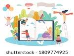 huge books and children.... | Shutterstock .eps vector #1809774925