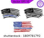 thin blue line us flag. flag... | Shutterstock .eps vector #1809781792