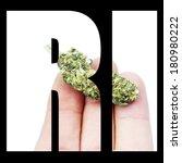 rhode island marijuana and... | Shutterstock . vector #180980222