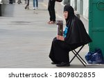 Orthodox Elderly Woman Nun In A ...