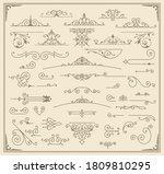 premium accents. vintage... | Shutterstock .eps vector #1809810295