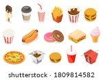 3d isometric flat vector food... | Shutterstock .eps vector #1809814582