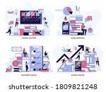 business solution and analysis  ...   Shutterstock .eps vector #1809821248