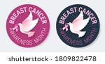 breast cancer awareness pins... | Shutterstock .eps vector #1809822478
