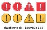 hazard attention sign set.... | Shutterstock .eps vector #1809836188