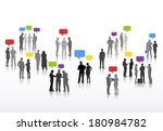 vector of business people with... | Shutterstock .eps vector #180984782